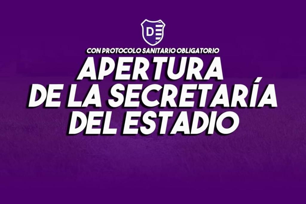 La Secretaría del Club Villa Dálmine vuelve a brindar atención al socio