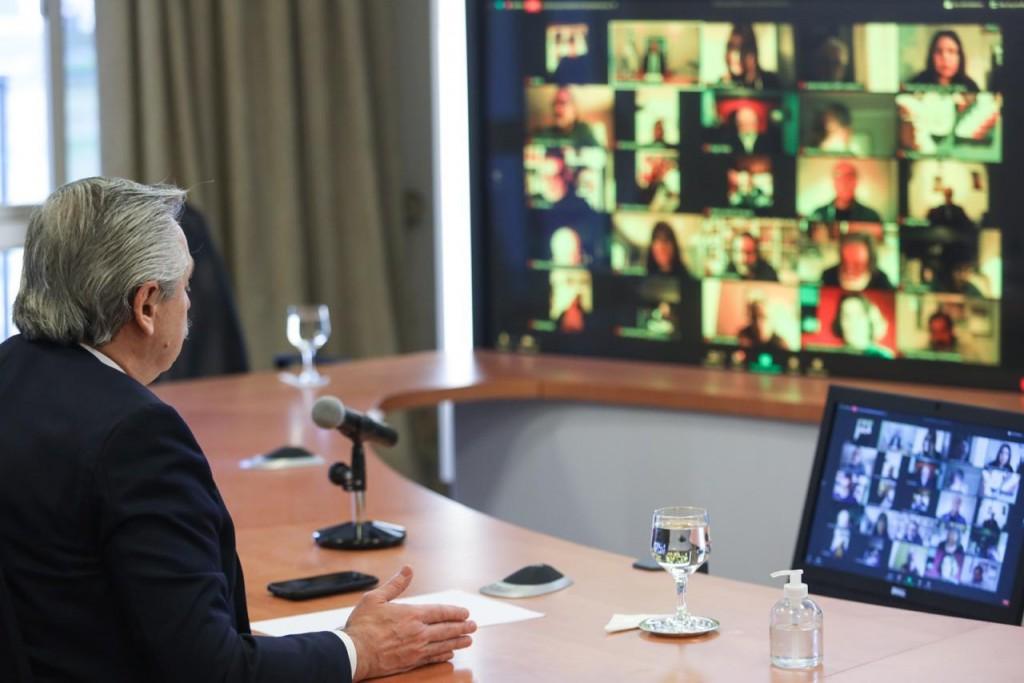 """El presidente Alberto Fernández convocó a un acuerdo entre todos los sectores para construir un país donde """"todos ganemos"""""""