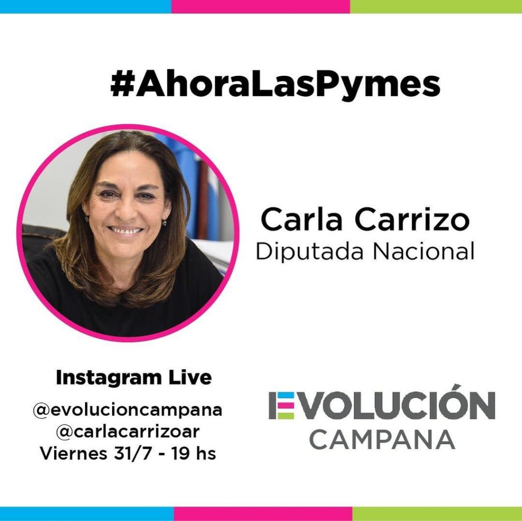 La Diputada Nacional Carla Carrizo dialogará con comerciantes y hoteleros de nuestra ciudad. #AHORAlasPyMEs