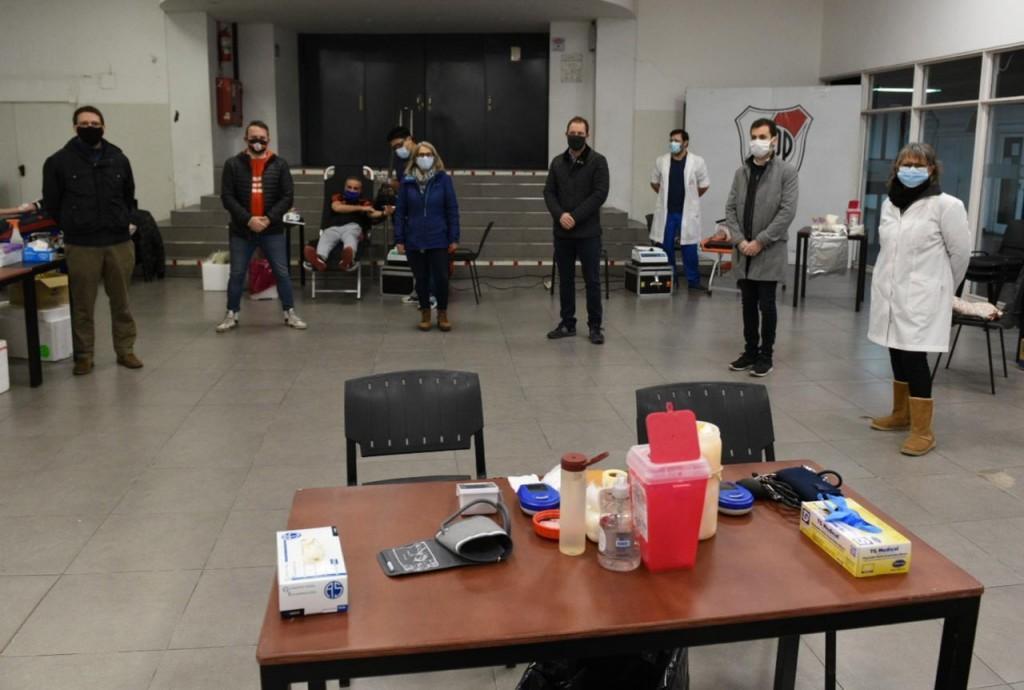 Gran éxito en la jornada de donación voluntaria de sangre en el Monumental