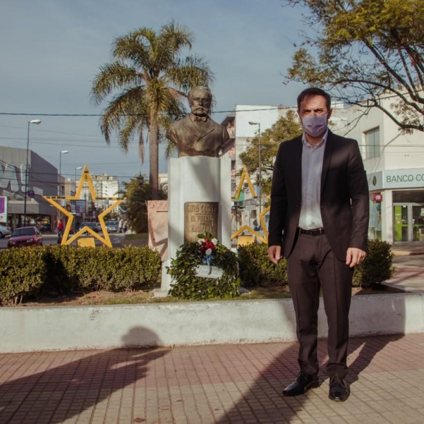 Abella encabezó el acto virtual por el 135° aniversario de la ciudad