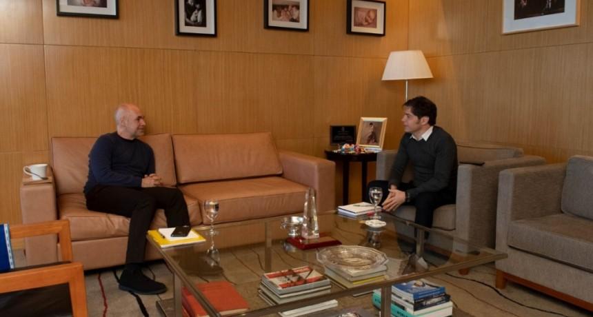 Axel Kicillof y Horacio Rodríguez Larreta se reunieron hoy en las oficinas del Gobierno de la Ciudad