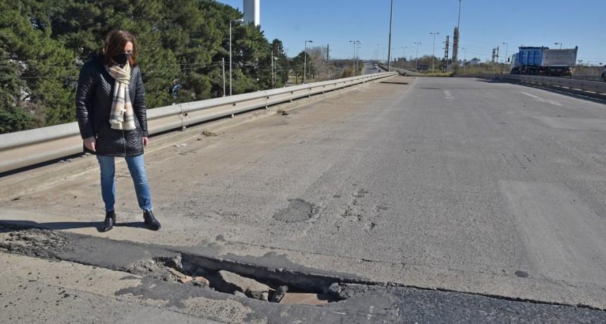 Abella y concejales de Juntos por el Cambio gestionaron la reparación de la Ruta 6