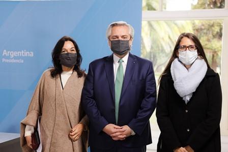 Alberto Fernández y Elizabeth Gómez Alcorta participaron del cierre del Foro Generación Igualdad
