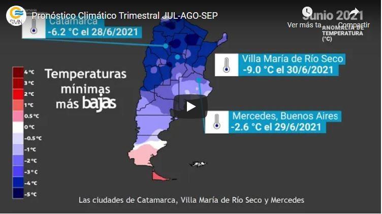 Pronóstico Climático para el resto del invierno 2021