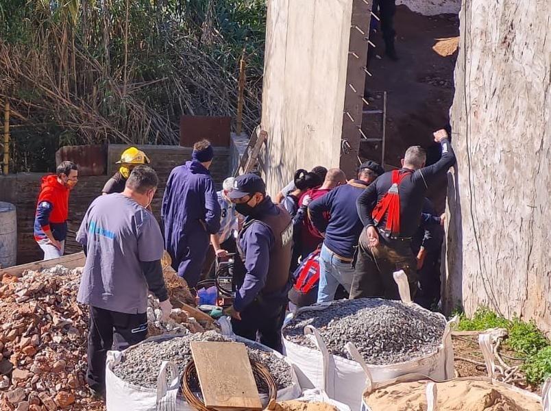 Destacan la participación de Defensa Civil Campana en el rescate de un trabajador en Zárate