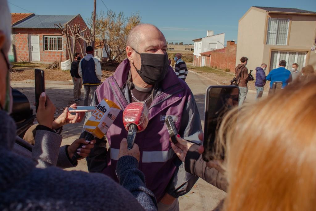Agostinelli:  La planta de tratamiento que tendrá Cardales Chico permitirá darle cloacas a los vecinos de San Jorge