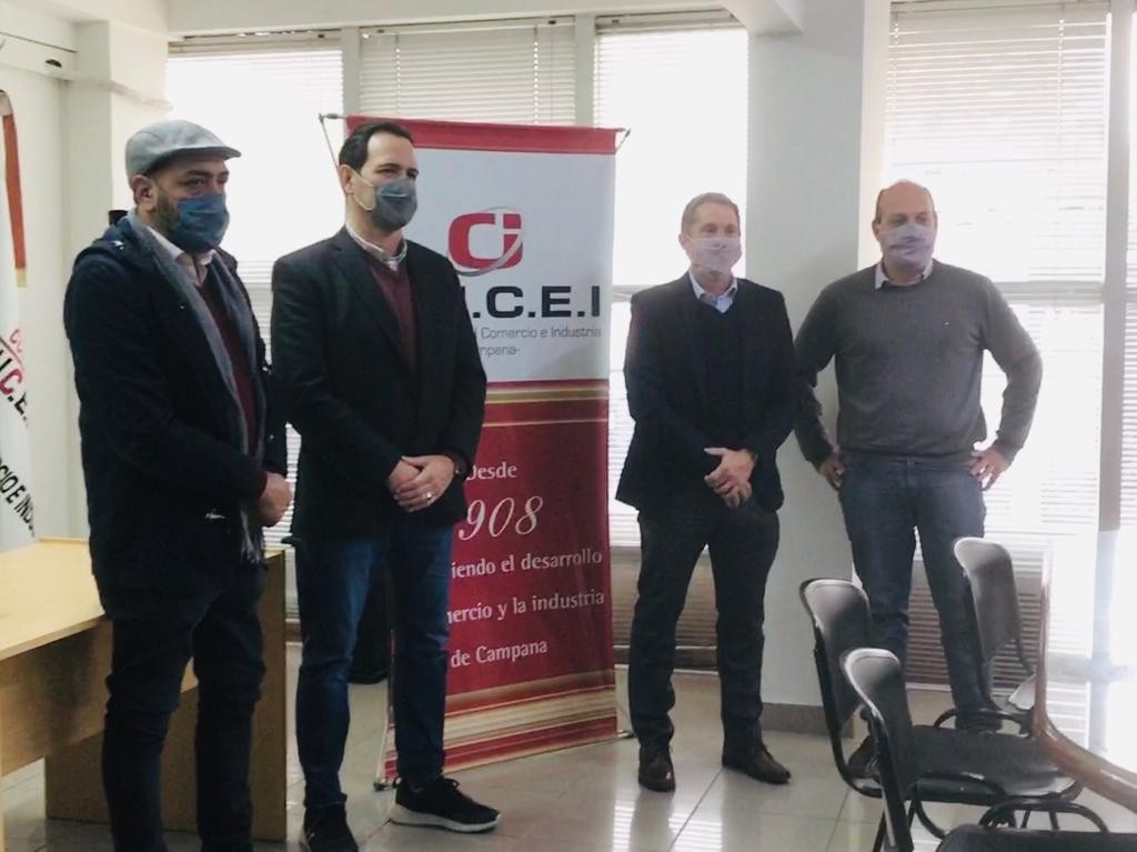 Roses acompañó la visita del senador Gabino Tapia