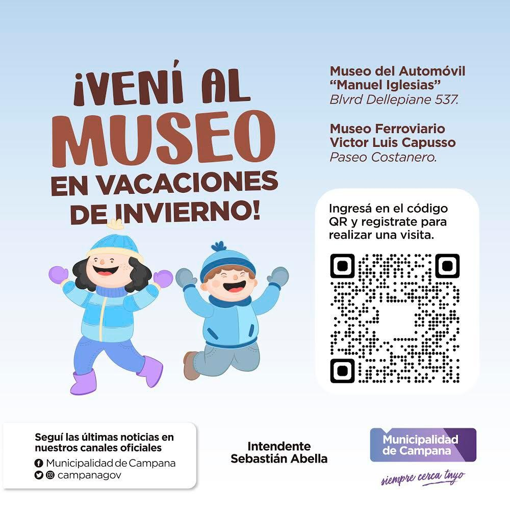 Presentan el programa ¡Vení al museo en vacaciones de invierno!