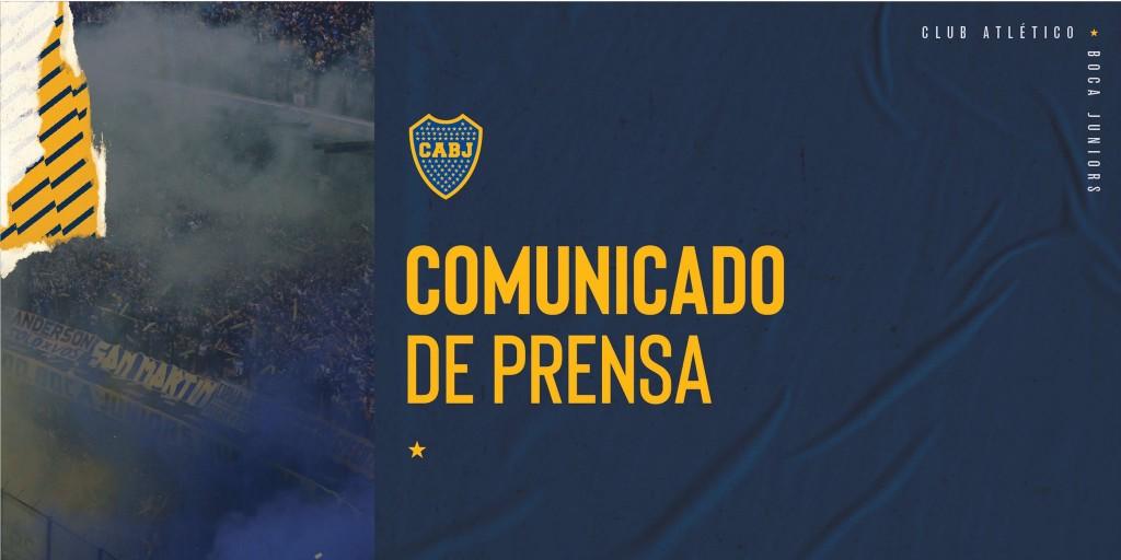 Comunicado de prensa Club Boca Juniors