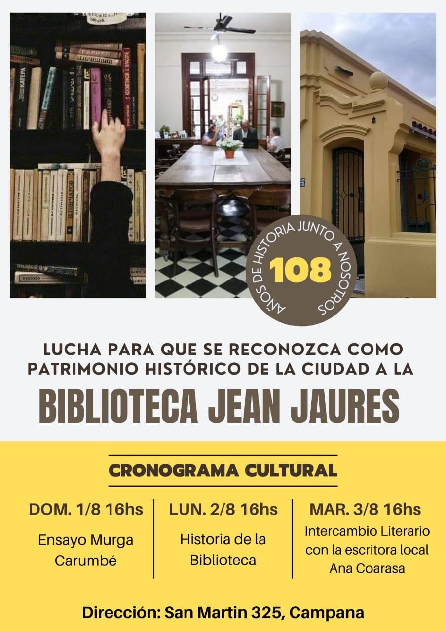 Múltiples actividades culturales en defensa de la Biblioteca Jean Jaures