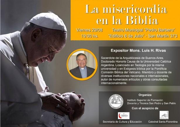 """Monseñor Luis Rivas disertará sobre """"La Misericordia de Dios en la Biblia"""""""