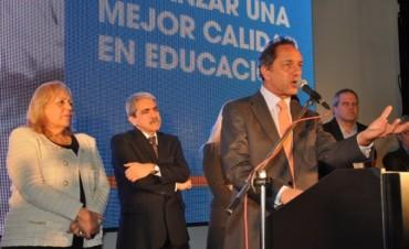 Campana ratificó su compromiso con la Educación: Se inauguró la nueva Escuela Técnica Nº 2