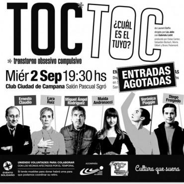 """TOC TOC"" se presenta en Campana con entradas agotadas"