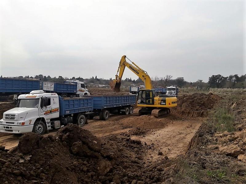 Otamendi: se puso en marcha una importante obra hidráulica para evitar inundaciones