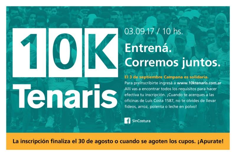 Cuenta regresiva para la Maratòn Tenaris 10K