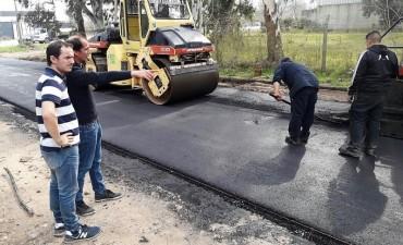 Comenzaron las obras de pavimentación en el barrio 9 de Julio