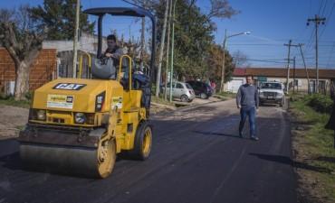 Las Campanas: se comenzó a repavimentar la calle Schinoni