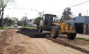 Se realizan trabajos de mantenimiento en distintos barrios de la ciudad