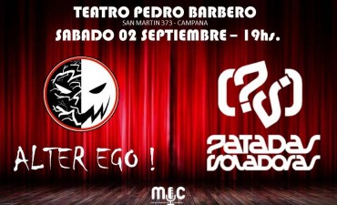"""""""Alter Ego"""" y """"Patadas Voladoras"""" brindarán un show gratuito en el Pedro Barbero"""