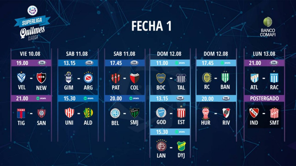 Quedó establecido el calendario para las cuatro jornadas iniciales de la próxima Superliga Quilmes Clásica