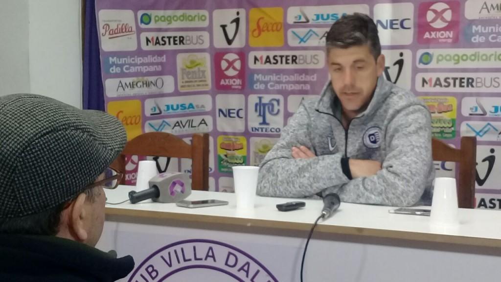 Felipe De La Riva: el ùnico objetivo es salvarnos del descenso.