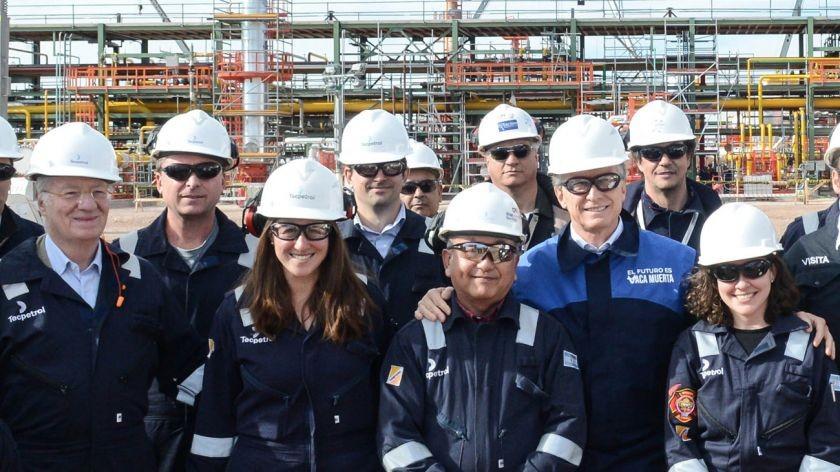 Macri con Paolo Rocca: inaugurò una planta de procesamiento