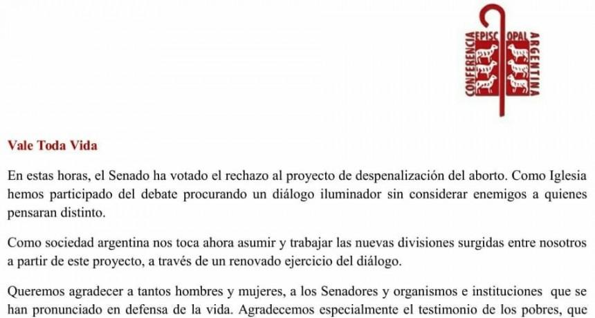 Declaración de la Comisión Ejecutiva: VALE TODA VIDA