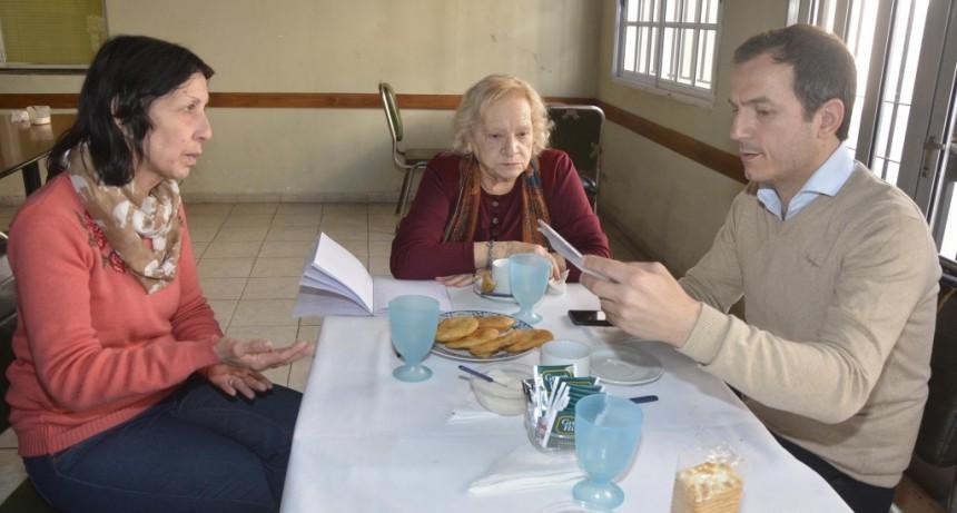 El Intendente visitó el Centro de Jubilados Ilusión de la Tercera Edad
