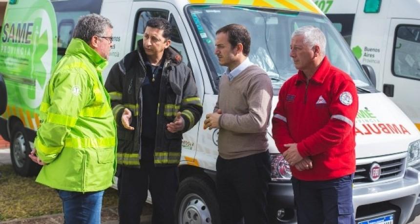 Con el SAME, Bomberos Voluntarios y Defensa Civil se fortalece la atención ante emergencias