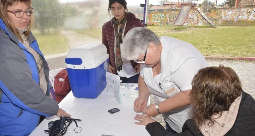 Se realizó una nueva posta sanitaria para adultos mayores en Santa Florentina