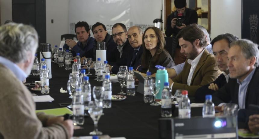 """MARÍA EUGENIA VIDAL ENCABEZÓ REUNIÓN DE GABINETE EN ROJAS Y DIJO """"LA VOLUNTAD DE DIÁLOGO NO LA PIERDO NUNCA"""""""