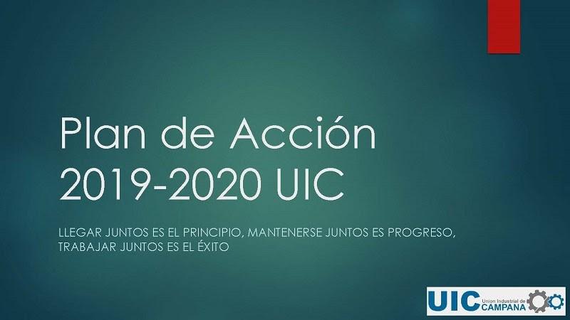 Presentación a los Socios, Plan de Acción 2019-2020