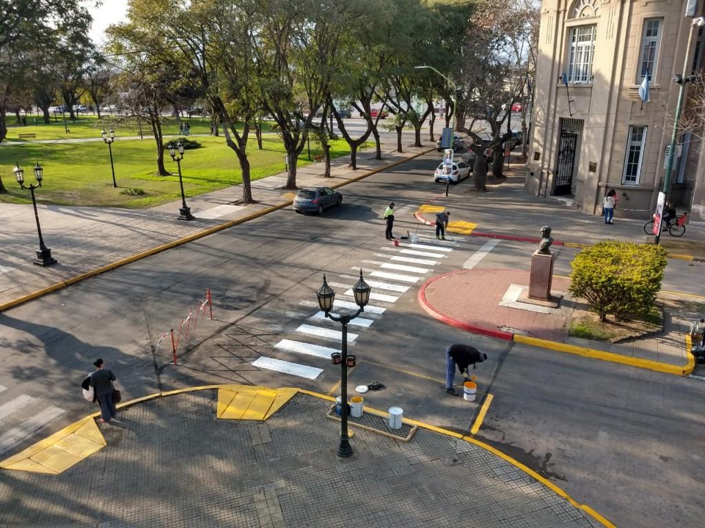 Tras la violenta manifestación, el Municipio reacondicionó el Palacio y los alrededores