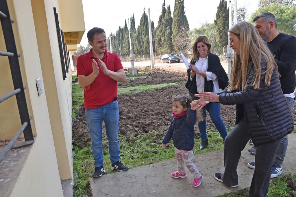 El Intendente entregó nuevas casas del Plan 104 Viviendas