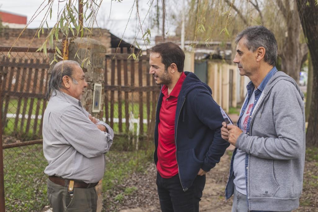 """Luis Gómez: """"los vecinos ven que con sus aportes estamos haciendo obras históricas"""""""