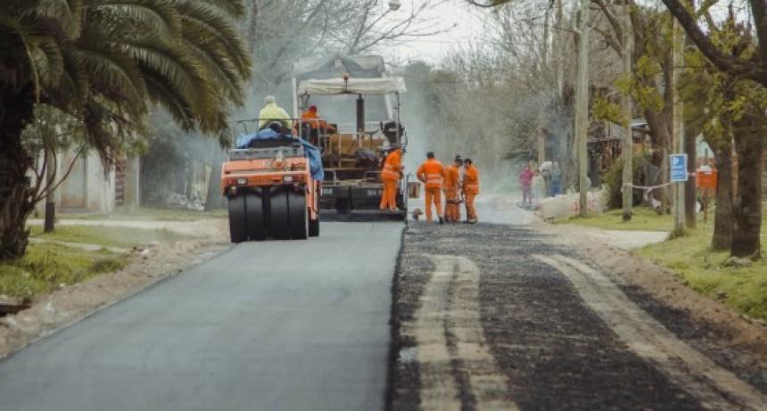 El barrio San Jacinto suma más calles de asfalto