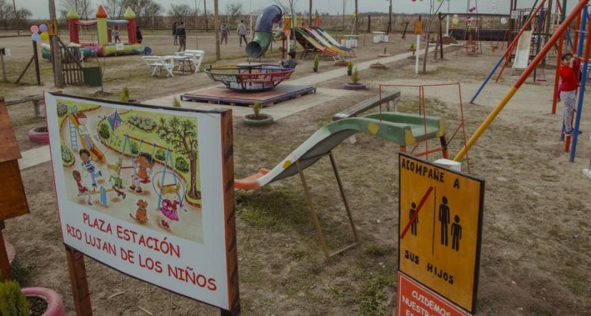 Estación Río Luján tiene una nueva plaza