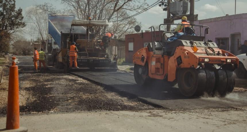El Municipio avanza con obras de asfalto en Villanueva