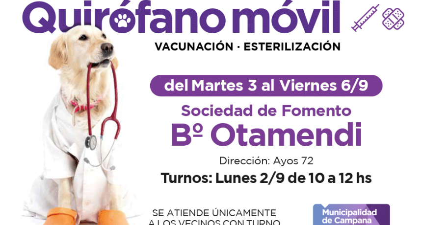 El quirófano móvil estará la semana próxima en Otamendi