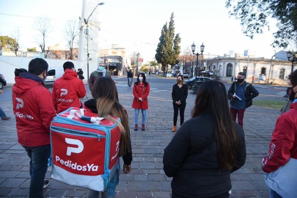 Soledad Alonso : impulsaremos una ley que proteja a los trabajadores de Plataformas Digitales