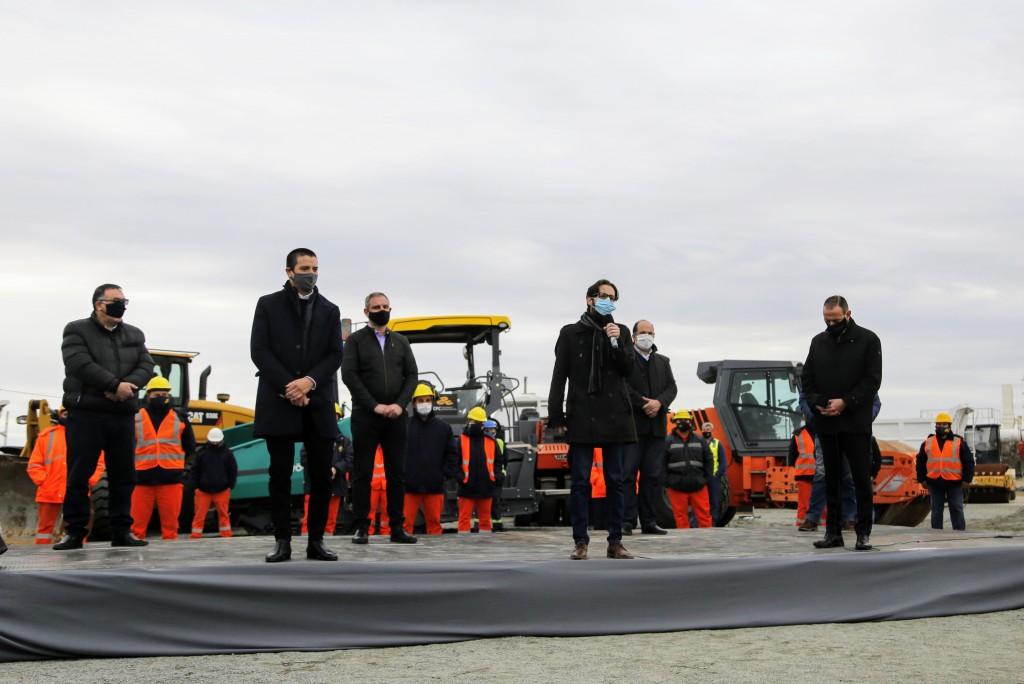 Kicillof participó del reinicio de obras del Corredor del Atlántico junto al presidente Alberto Fernández