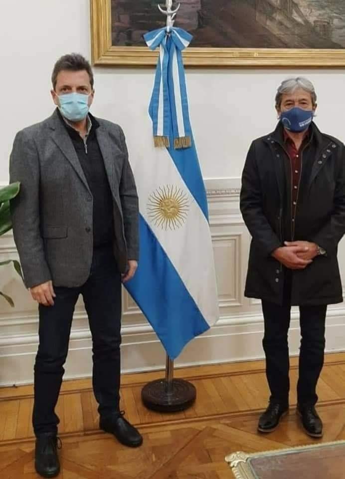 Pedro Milla se reunió con Sergio Massa