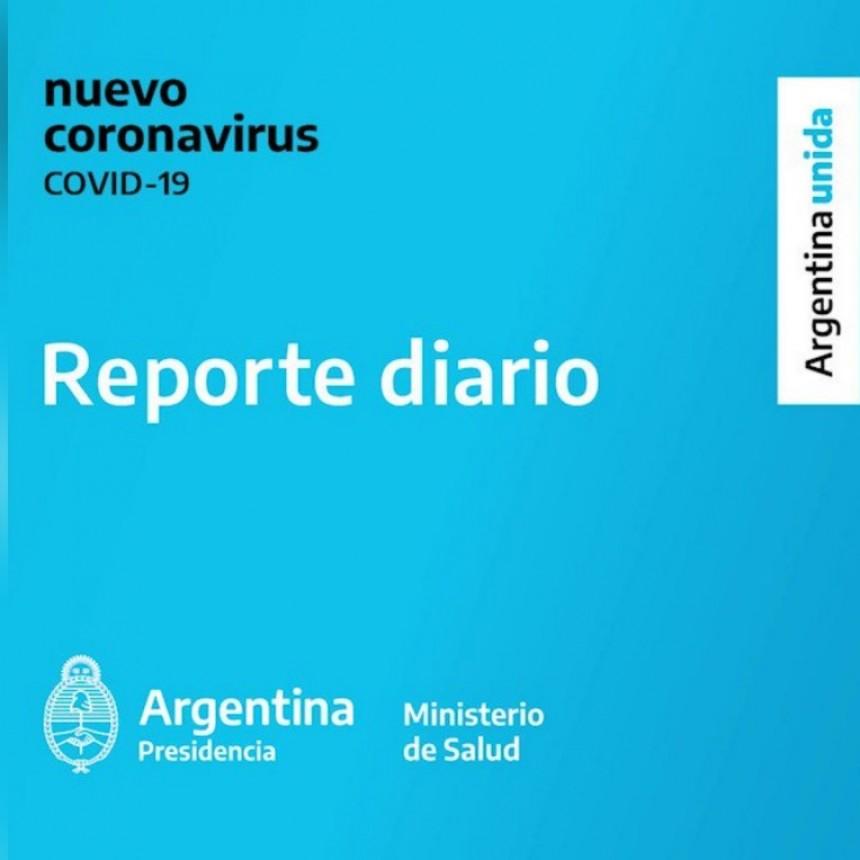 REPORTE DIARIO MATUTINO NRO 291   SITUACIÓN DE COVID-19 EN ARGENTINA