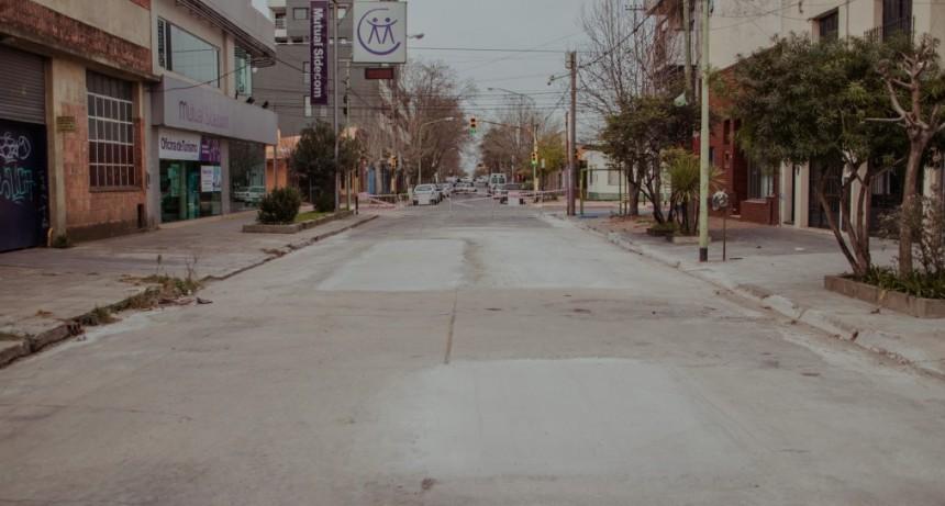 Finalizó la reparación de la calle 9 de Julio