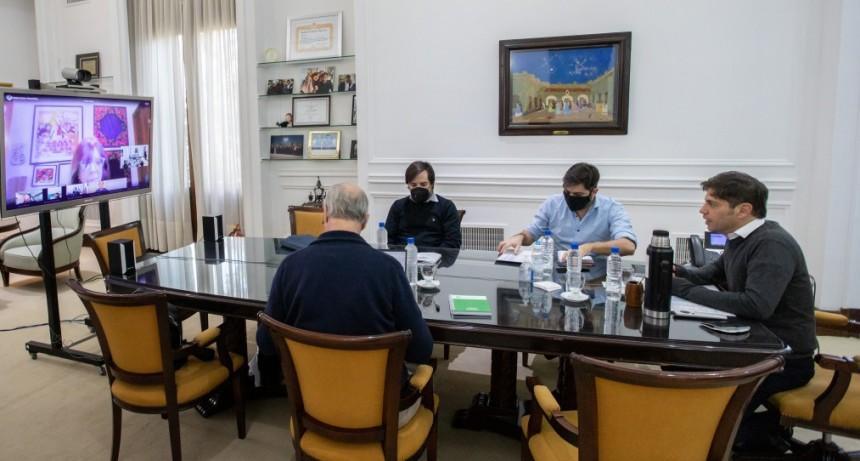 Kicillof se reunió con intendentes del Área Metropolitana y el Comité de Expertos