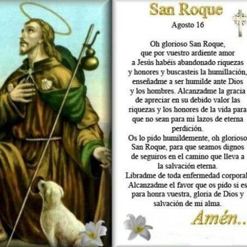 Por qué se recuerda el día de San Roque