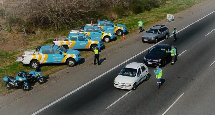 Se realizó un importante operativo de control vial por el fin de semana largo