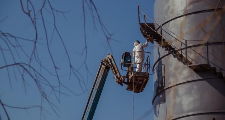 Nueva Costanera: importantes trabajos de recuperación de los emblemáticos silos