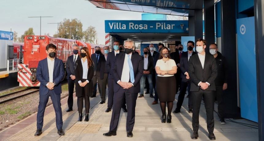 Kicillof participó de la inauguración de obras ferroviarias en Pilar